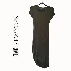 TMG New York green maxi t-shirt dress size medium